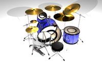 c4d drum set