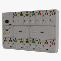 3d industrial electrical panel model