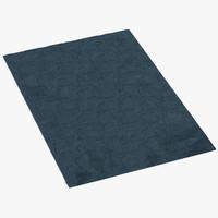 3d cross rug model