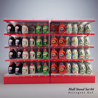 mall stand set 3d max