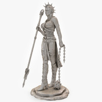 3d model woman warrior