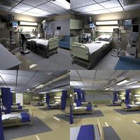 3d model hospital rooms