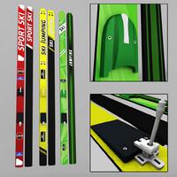 3d model ski jumping