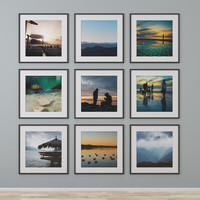 picture frame photo wall