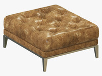 restoration hardware italia chesterfield 3d model