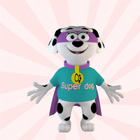 Cartoon Hero Dog