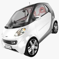3d model smart fortwo