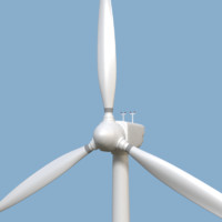 3d wind turbine model