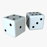 dice realistic 3d ma