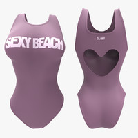 3d model women swimsuit