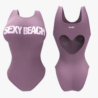 3d model women swimsuit