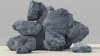 3d scans rock model