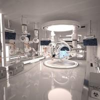 max futuristic sci fi laboratory