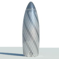 gherkin skyscraper 3d model