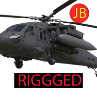 3d uh-60 black hawk army helicopter