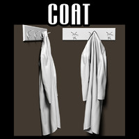 Coat on coat rack
