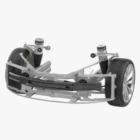 3d model of tesla s suspension modeled