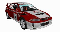 3d model mitsubishi evolution v