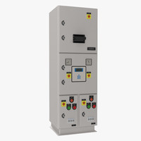 industrial electrical panel 3 3d 3ds