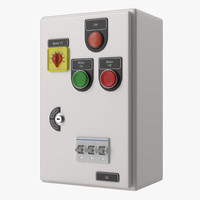 3d model industrial electrical panel 6