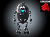 sci-fi robot 3d x