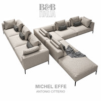 michel effe sofa 3d 3ds