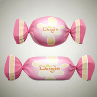 toffee candies 3d model