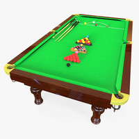 3d snooker table model