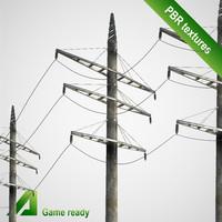 3d model power line