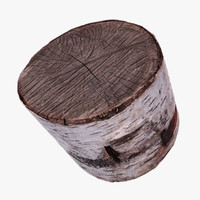 wooden stump 3d max