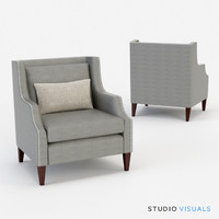 3d model carrie arm chair
