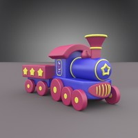 3d locomotive christmas model