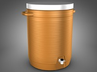 coleman water jug cooler 3d model