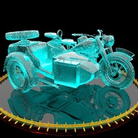 motorcycle ice 3d model