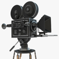 obj vintage movie camera