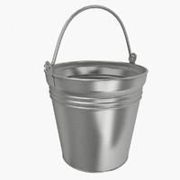 3d steel bucket model