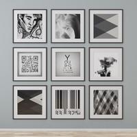 3d c4d photo wall
