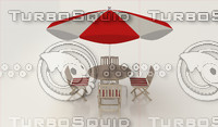 3d umbrella seating