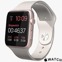 3d apple watch pink