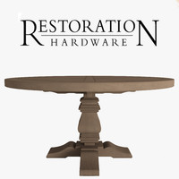 3d model wood dining table
