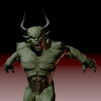 zbrush demonic fantasy creature obj