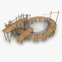 3d modeled bridge model