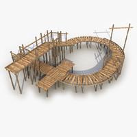 modeled bridge obj
