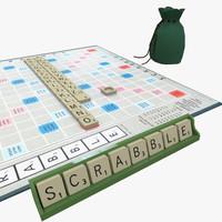 scrabble board 3d model