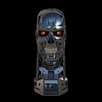 3ds terminator t-800 skull