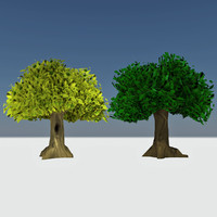 3d model of - giant cartoon trees
