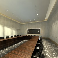 business meeting room 3d model