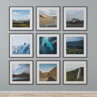 3d photo wall iceland