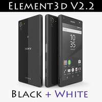 3d 3ds xperia z5 compact element3d
