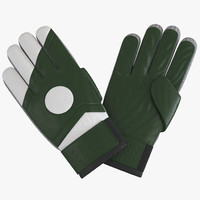 3d goalie gloves green model